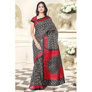 Sareemall Multi Colour  Khadi Silk  Saree with Unstitched Blouse HRV8313