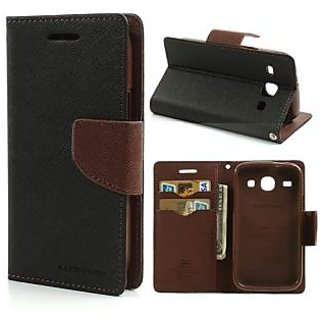 New Mercury Gospery Fancy Diary Walet Flip Case Back Cover for Samsung Galaxy A9 (Brown)