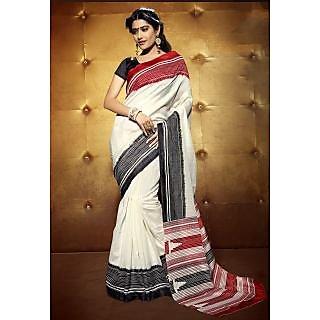 Sareemall Multicolor Art Silk Printed Saree With Blouse