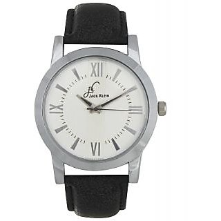 Jack Klein White Dial Leather Strap Elegant Anlong Watch For Men