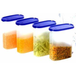 Tupperware Modular Mate Oval - 2.3 Ltr. (4 Pcs Set) Food  Snacks Storage Etc.