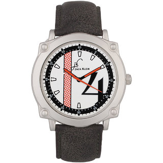Jack Klein Round Dial Black Strap Elegant Anlong Watch For Men