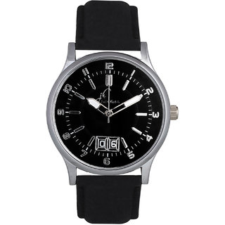 Jack Klein Round Dial Black Leather Strap Elegant Anlong Watch For Men