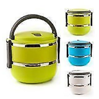 LUNCH BOX DOUBLE Tiffin Box 2 Layers Hot Box