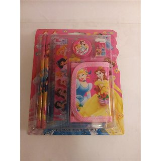 Funcart Funcart Three Princess Theme Stationery Set With Wallet ( 5 Items/Pack)