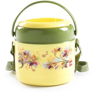 Cello Mark Insulated Lunch Carrier with 2 Container, Pista