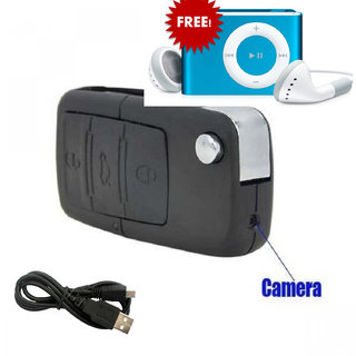 Spy Bmw keychain Camera With Mp3 Player + Earphone Free