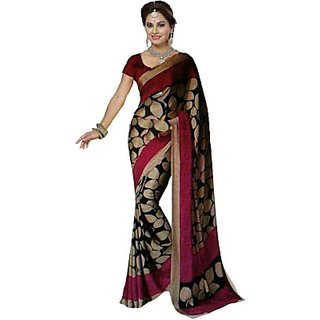 SAPTHAGIRI Printed Bhagalpuri Art Silk Sari