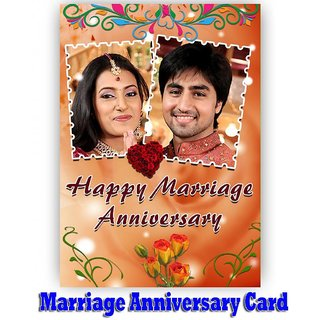 PERSONALIZED MARRIAGE ANNIVERSARY Picture Photo GREETING CARD Gift D4