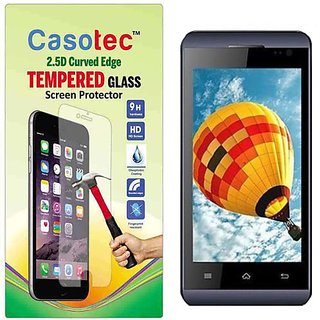 Casotec 2.5D Curved Edge Tempered Glass Screen Protector for Micromax Bolt S302