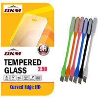 2.5D Curved Edge HD Tempered Glass For Motorola Moto G4 Plus With Flexible LED Lamp