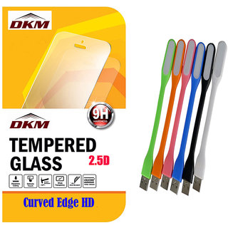 25D Curved Edge HD Tempered Glass for Motorola Moto G4 Plus with Flexible LED Lamp