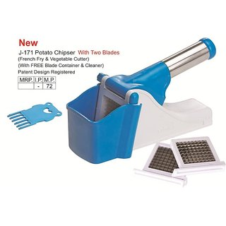New Ritu Potato Vegetable Fruit Chipser Cutter Chopper Slicer Crusher French Fry