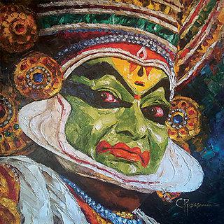 KathakaliKnife Painting Oil on Canvas 50cmX50cm (Original)