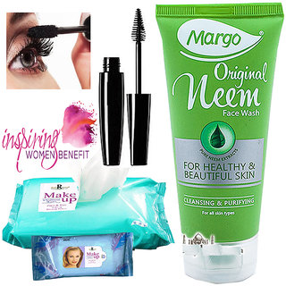Summer special Skin Care Kit(Neem Face Wash+Mascara+ Mackup Cleaning wipe)