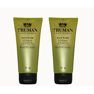Truman Face Wash (PACK OF 2) ( Exfoliating and Deep Cleansing daily Purifying Wash)