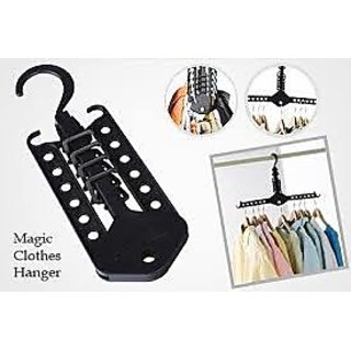 Multi Function Wardrobe Magic Foldable Clothes Hanger Cloth Rack Hook Organiser