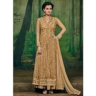Vastrani Beige Net Embroidered Party Wear Salwar Suit 400DR3001