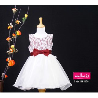 White Bow Frock