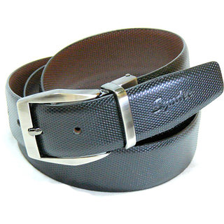 Syndec Black Leather Belt For Men