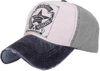 Modo Vivendi Unisex Letter Print Baseball Cap Outdoor Sports Summer Sun Hat ( Grey+Black )