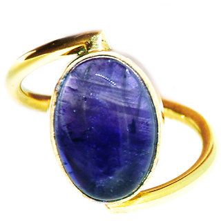 Casa De Plata Blue Amethyst  Gold Plated Ring