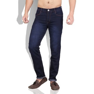 Mens Casual Blue Denim Jeans