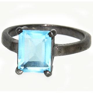 Casa De Plata  Blue Topaz Gold Plated Ring