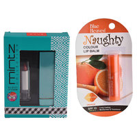 Mintz Glossy Lipstick (Eternal Red)  Naughty Color Lip Balm (Orange)