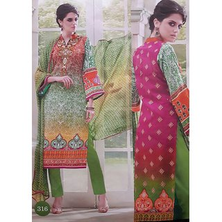 Andaaz collection Designer  pure lawn cotton suit with Embroidery  neck