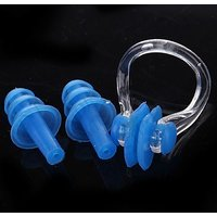 2 in 1 Soft Silicone Swimming Ear Plugs And Nose Clip Set