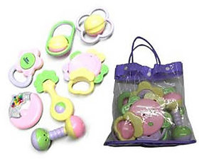Baby Pouch Rattle (Pack of 7 Pcs )