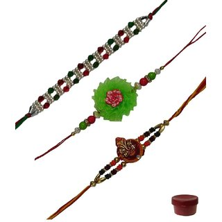Laviva ROB12901 Wonderful Set of Three Fancy Rakhis