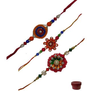 Laviva ROB12920 Finest Collection of 3 Fancy Rakhis