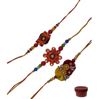 Laviva ROB12929 Glamorous Rakhi set of Three