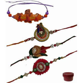 Laviva ROB13187 Beautiful Combination of Kids  Fancy Rakhis