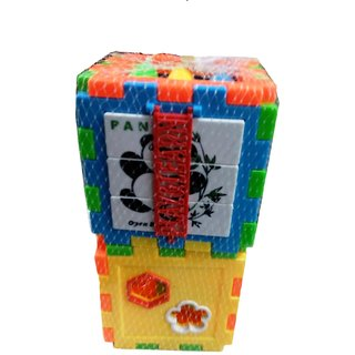 Baby Colorful Block Toy Bricks Blocks Baby Kids Intelligence Educational Sorting Box Toy