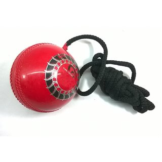 Cricket Leather Ball with Rope for Practice