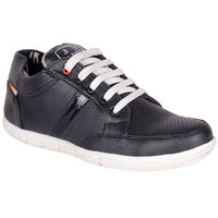 Jokatoo MenS Black Sneakers Lace-Up Shoes