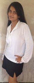 LBH Lily's of Beverly Hill White Full Sleev Top/T-Shirt & Black Skort/Skirt