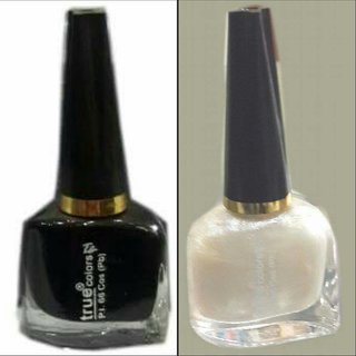 True Colors Combo of Black and White Nail Paint/Color