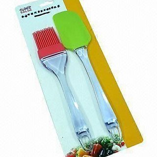 Evershine Silicone Brush and spatula set for Pastry/ cake barbeque cooking