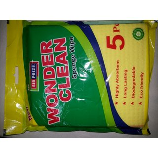 Wonder Clean Kitchen Sponge Wipes Pack of 5