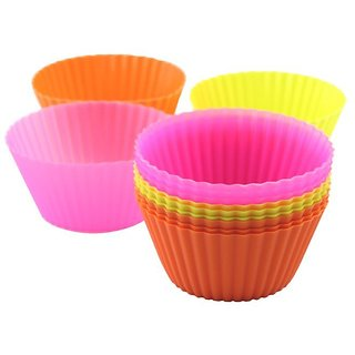 12 pcs Silicon cup cake molds