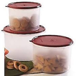 Tupperware Super Storer Set Of 3 Canisters (Large+Medium+Small)