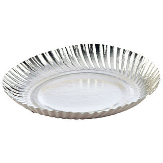 Silver Coated Paper Plate 10
