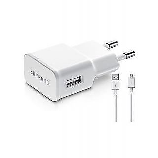 Yamuna SAMSUNG CHARGER 2 amps fast charging 2 in1 USB Wall Charger (white)