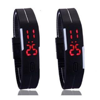 LED Wrist Band Digital Watch Combo Pack Of 2