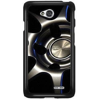 Flashmob Black 2D Printed Back Cover for LG L70 2D-BLACK-LGL70-1434
