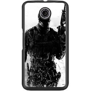 Flashmob Black 2D Printed Back Cover for LG Google Nexus 6